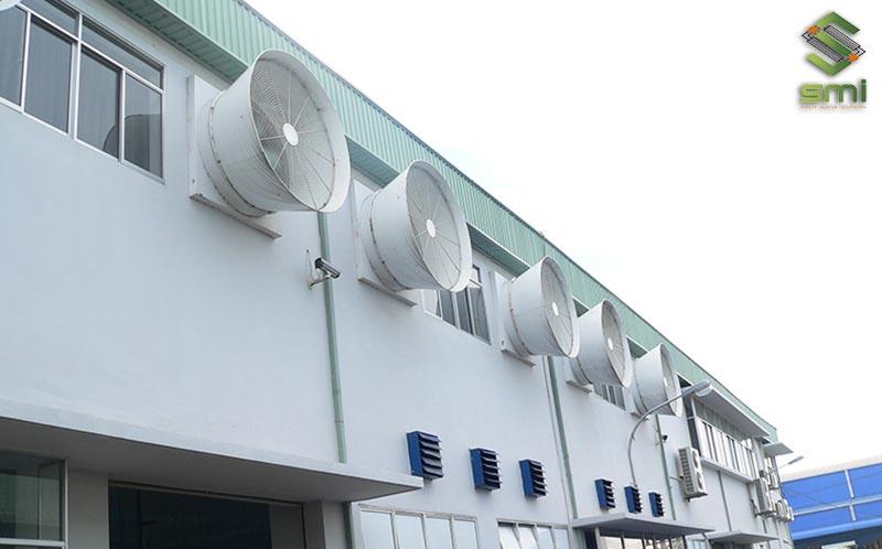 Thiết kế thông gió nhà xưởng không dùng kênh dẫn