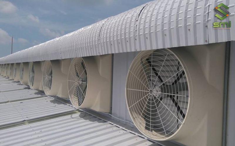Tính toán số thiết bị quạt trong hệ thống thông gió nhà xưởng