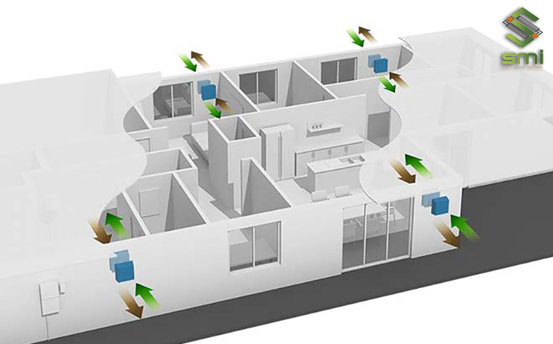 Tình toán giúp luồng gió ra vào nhà xưởng liên tục, từ đó làm mát và quản lý nhiệt độ hiệu quả