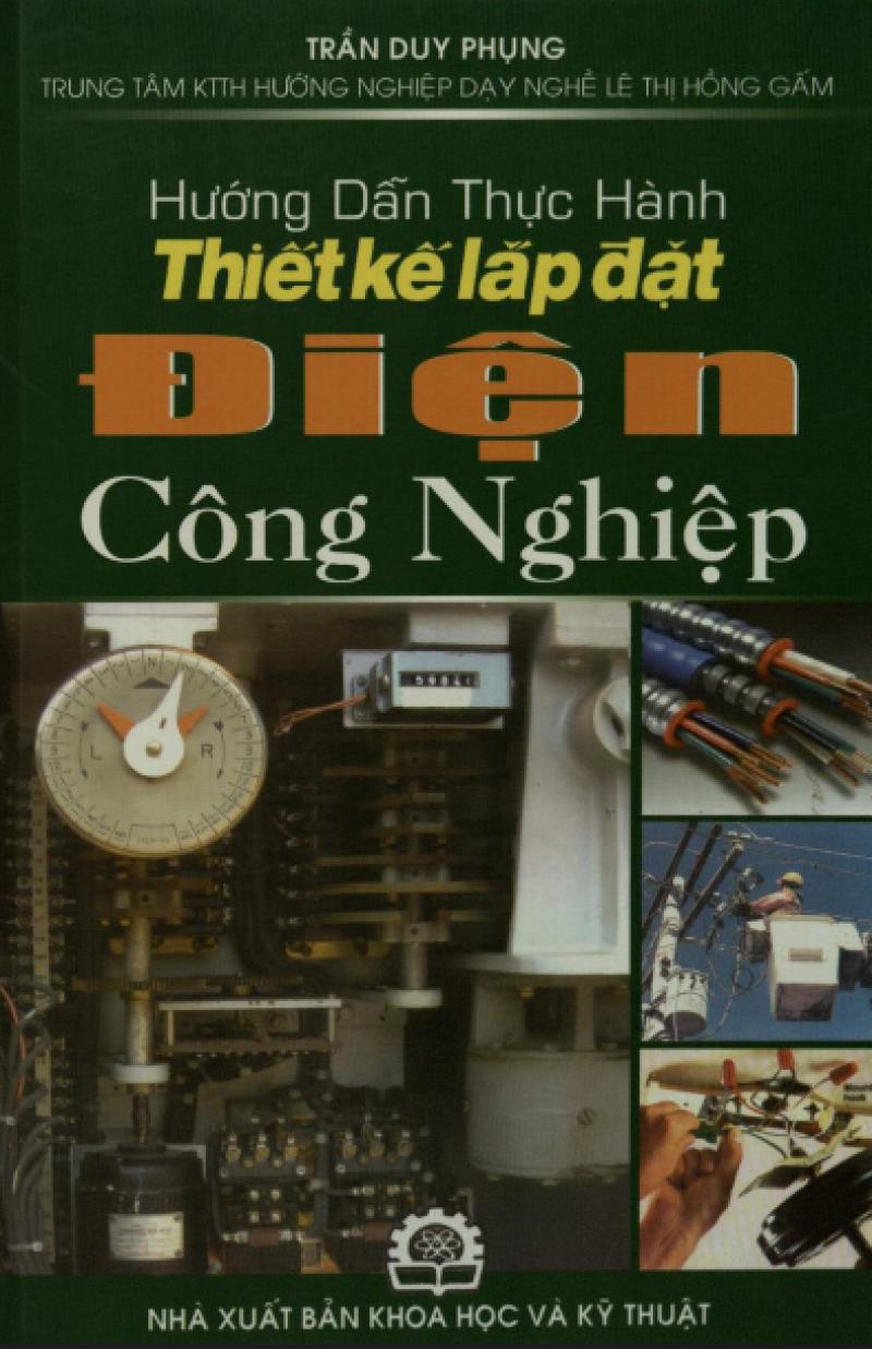 Trang bìa cuốn sách Hướng dẫn lắp đặt điện công nghiệp