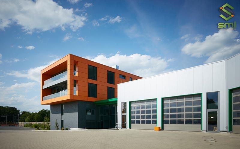 Xây dựng văn phòng và nhà xưởng ở 2 tầng khác nhau tạo sự chuyên biệt