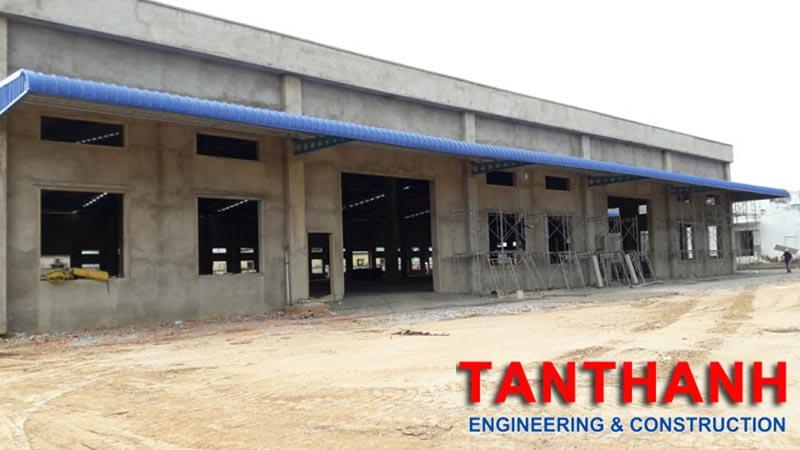 Dự án xây dựng nhà xưởng của công ty Tân Thanh