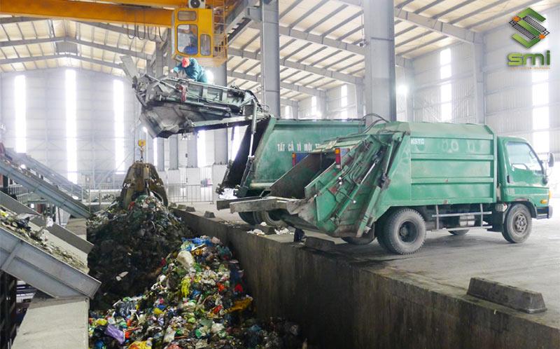 Rác thải được tập kết tại kho giúp quá trình thu gom, xử lý dễ dàng hơn