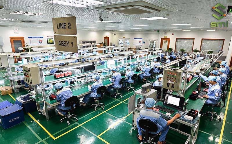 Xưởng sản xuất vi mạch thường dùng điều hòa thông gió